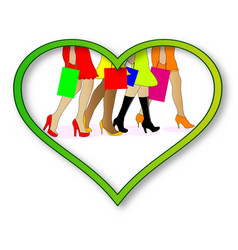 love shopping vector image vector image