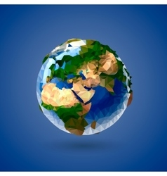 Low poly earth globe vector