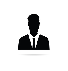 man silhouette with tie vector image vector image