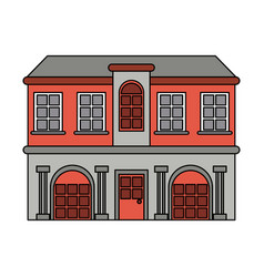 Mansion with columns vector