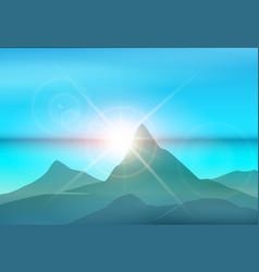 morning island landscape vector image vector image