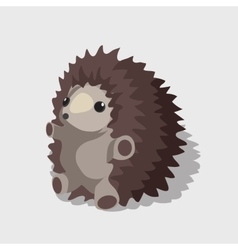 Nice childrens toy gray hedgehog vector