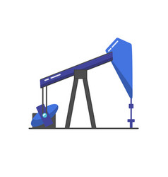 oil rig icon in flat style vector image