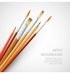 Paint brushes isolated on the white background vector image