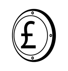 Pound sterling coin isolated icon vector
