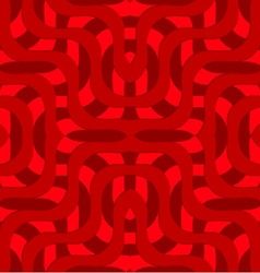 Retro 3D red overlapping waves vector image vector image