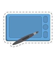 Smartphone technology pen digital touchscreen vector
