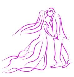 wedding in love vector image