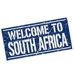 Welcome to south africa stamp vector