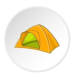 Yellow tent icon cartoon style vector