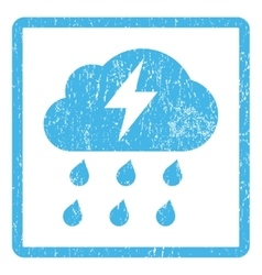 Thunderstorm icon rubber stamp vector