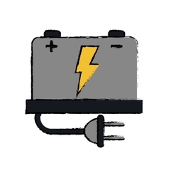 Drawing car battery high voltage mechanic plug vector