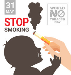World no tobacco day poster for stop smoking vector