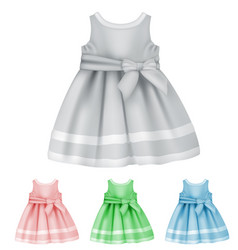 Baby dress blank template vector