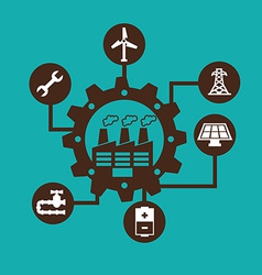 industry design vector image