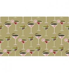 Cocktail pattern vector