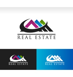 Real estate house roof icon vector