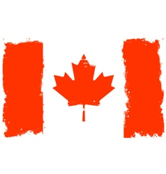Threadbare flag of canada vector
