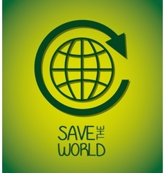 Save world design vector