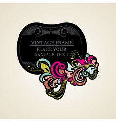 Elegance vintage frames for your text vector image