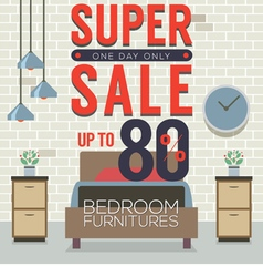 Furniture super sale up to 80 percent vector