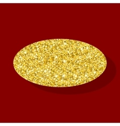 Golden figure ellipse vector