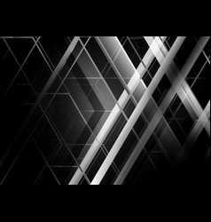 Abstract black and white geometric background vector