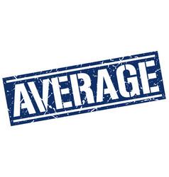 Average square grunge stamp vector