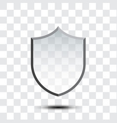 Blank protection shield icon vector