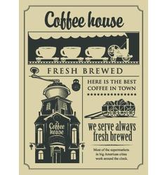 cafe shop vector image vector image