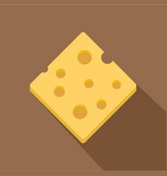 Cheese fresh block icon flat style vector