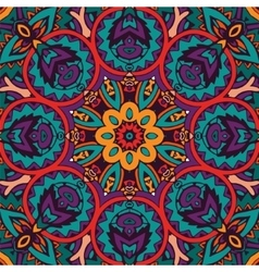 colorful mandala flower pattern vector image vector image