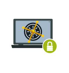 computer lock security privacy vector image vector image