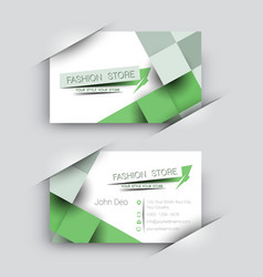Fashion store business card set vector