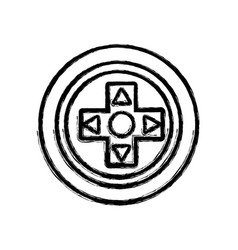 Figure videogame symbol to play and videogame vector