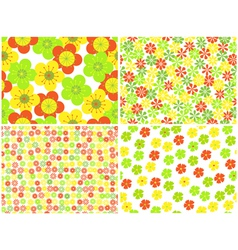 flowers set 2 vector image vector image