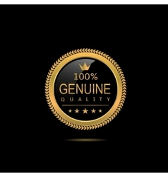 Genuine quality badge vector image vector image
