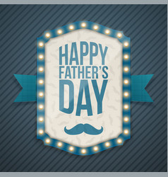 Happy fathers day light banner with ribbon vector