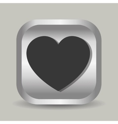 Heart line icon vector