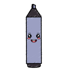 highlighter pen kawaii character vector image