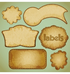 labels retro vector image vector image