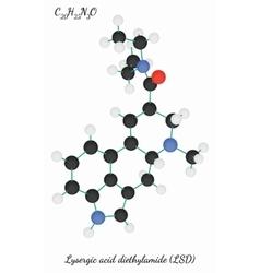 Lysergic acid diethylamide c20h25n3o molecule vector