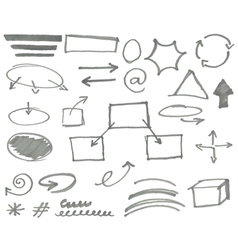 marker elements vol 2 vector image vector image