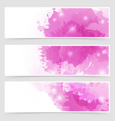 Modern art bright web header collection vector