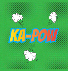 pop art comics kapow speech bubble vector image vector image