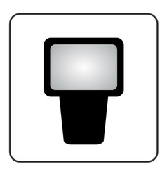 Professional camera flash icon vector image vector image