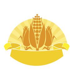 Ripe corn vector