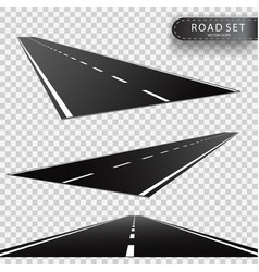 road perspectives of a retreating roadway vector image