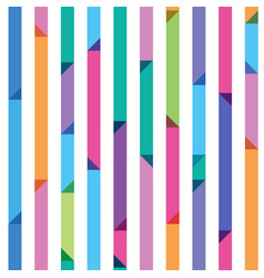 seamless pattern from color strips with triangles vector image