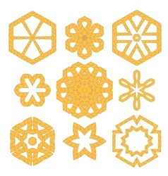 Set of Different Rope Ornaments vector image